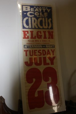 Beatty-Cole Circus Poster - Elgin, IL
