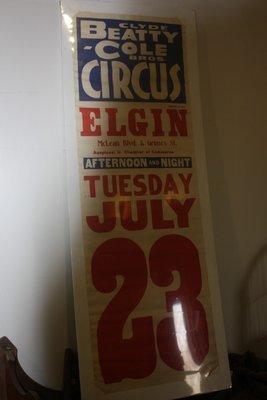 Beatty-Cole Circus Poster - Elgin, IL