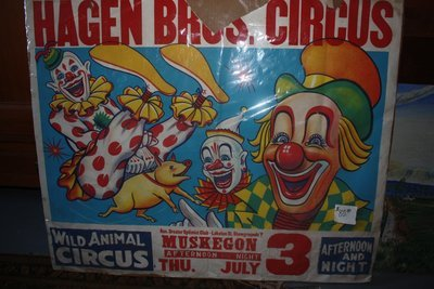 Vintage Hagen Brothers Circus Poster - Muskegon