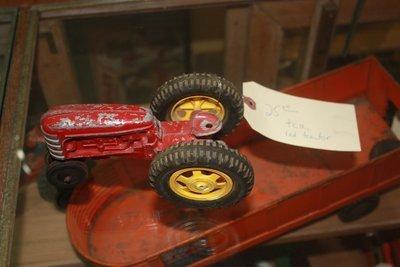 Vintage Hubley Die Cast Toy Tractor