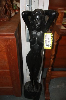 Wood Carving of Nude Woman