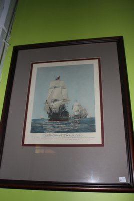 Nicely Framed Sailing Ships Print