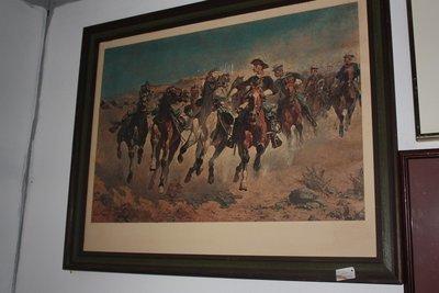 Nicely Framed Western Print