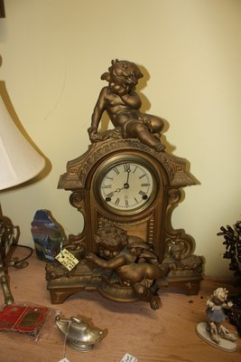 Antique Bronze Mantel Clock