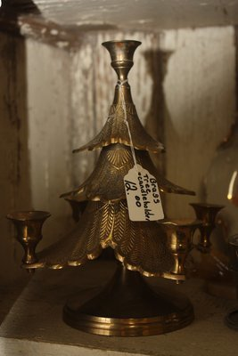 Brass Christmas Tree Candel Holder