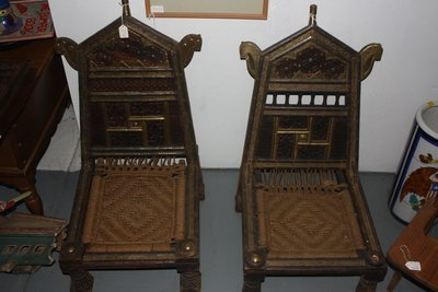 Pair Of Antique Indian Rope Chairs