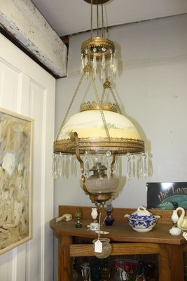 Beautiful Old Glass Hanging Lamp