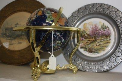 Globe In Brass Stand