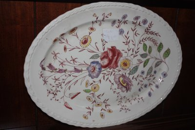 Flowered Ceramic Platter