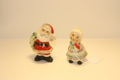 Ceramic Mr And Mrs Clause