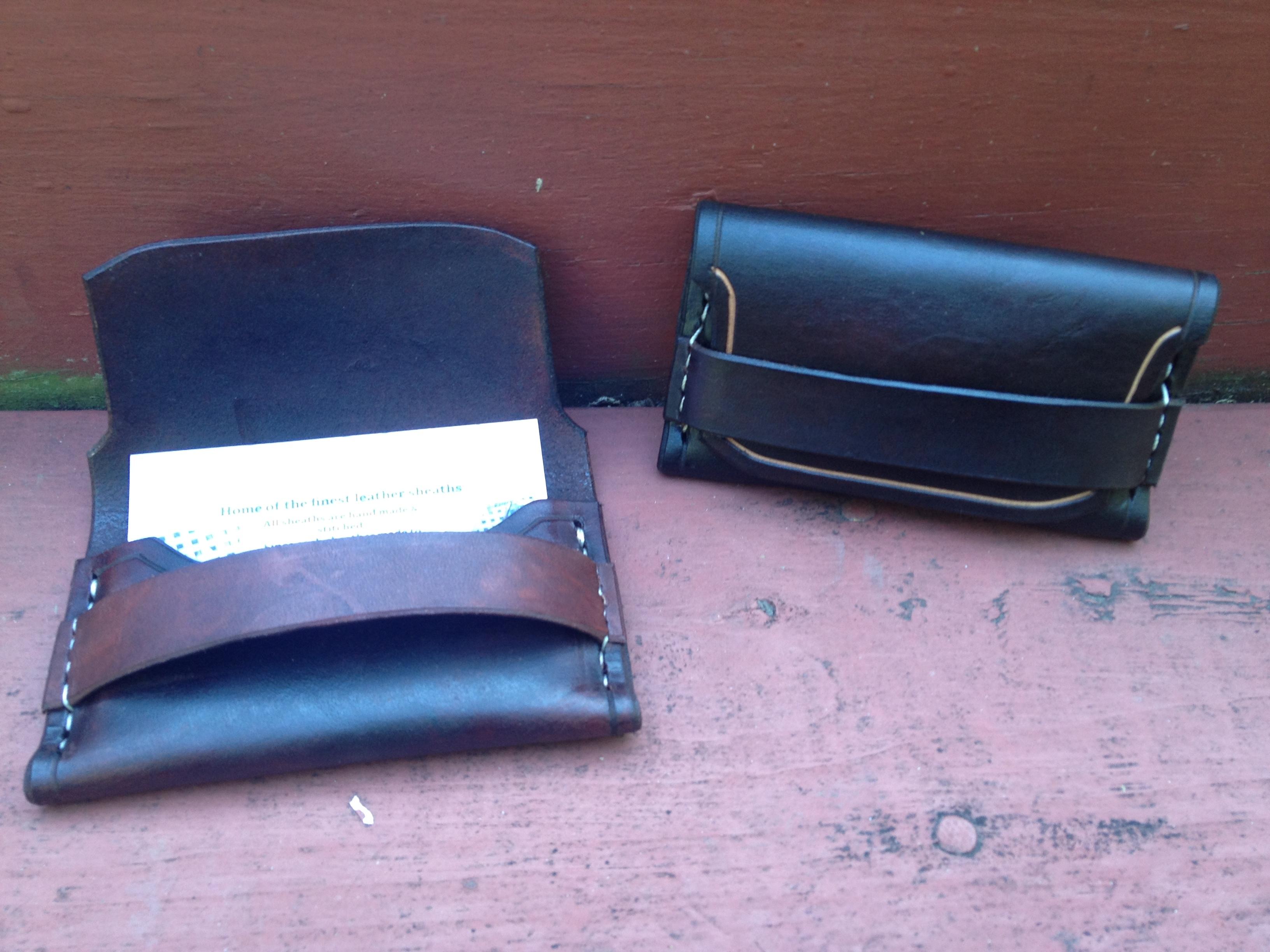 Custom leather business card holder colourmoves