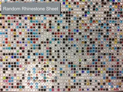Mixed Rhinestone Bling Sheet
