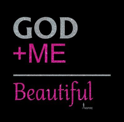 God + Me = Beautiful Glitter Vinyl Shirt