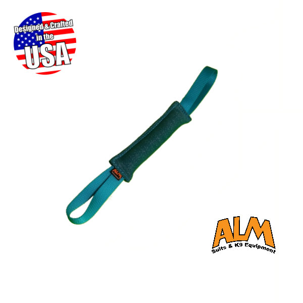 "8"" x 1.5"" Teal Tug with 2 Teal Handles"