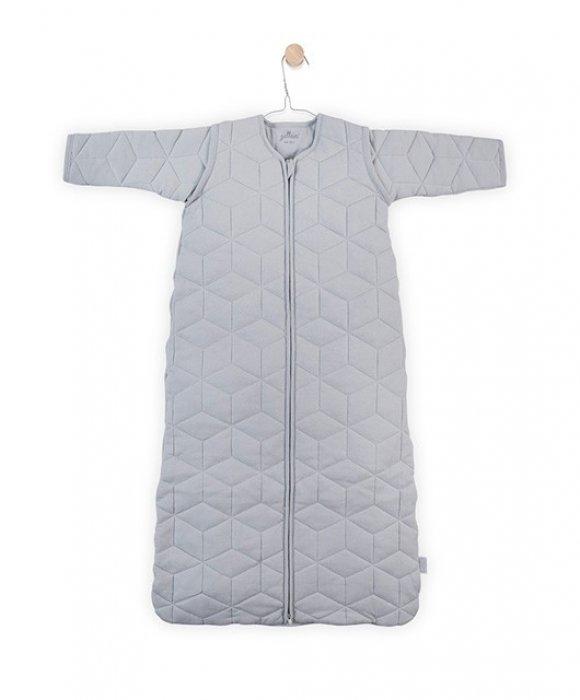 Jollein Утепленный спальный мешок с холлофайбером и съемными рукавами TOG 2,2 (серый)