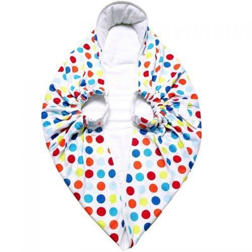 Конверт-переноска SnuggleBundle (разноцветный горошек)