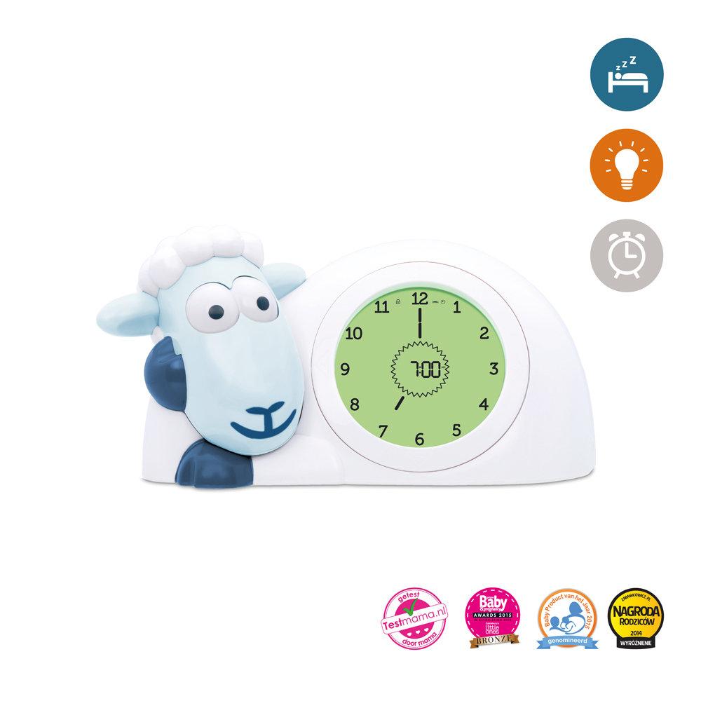 Zazu Часы-будильник Ягнёнок Сэм для обучения сну (голубой)