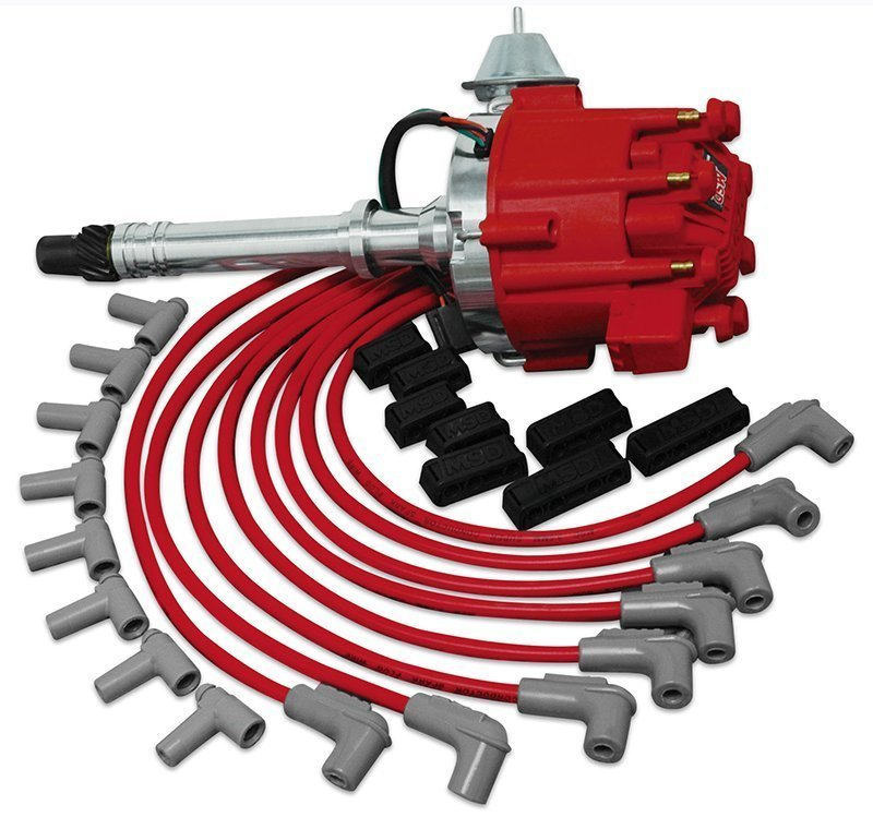 MSD Chevy Ready to Run Ignition Kit Pro-Billet HEI Distributor, HEI