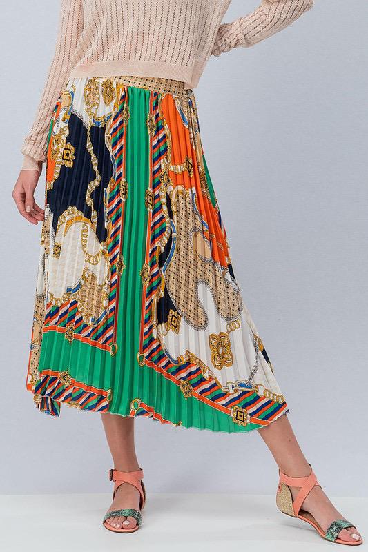 Brunch Anyone Pleated Skirt UPSK714-BRUNCHANYONE