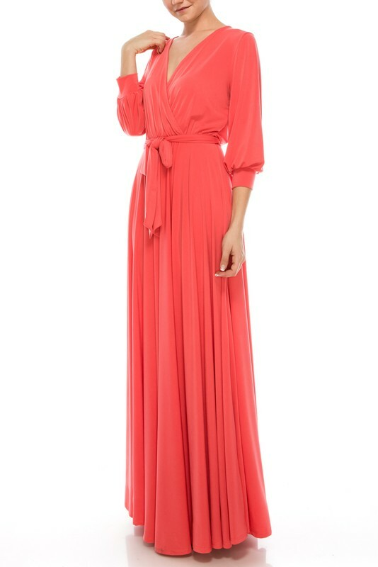 She's My Lady Maxi Wrap Dress UPDR630-SHESMYLADY