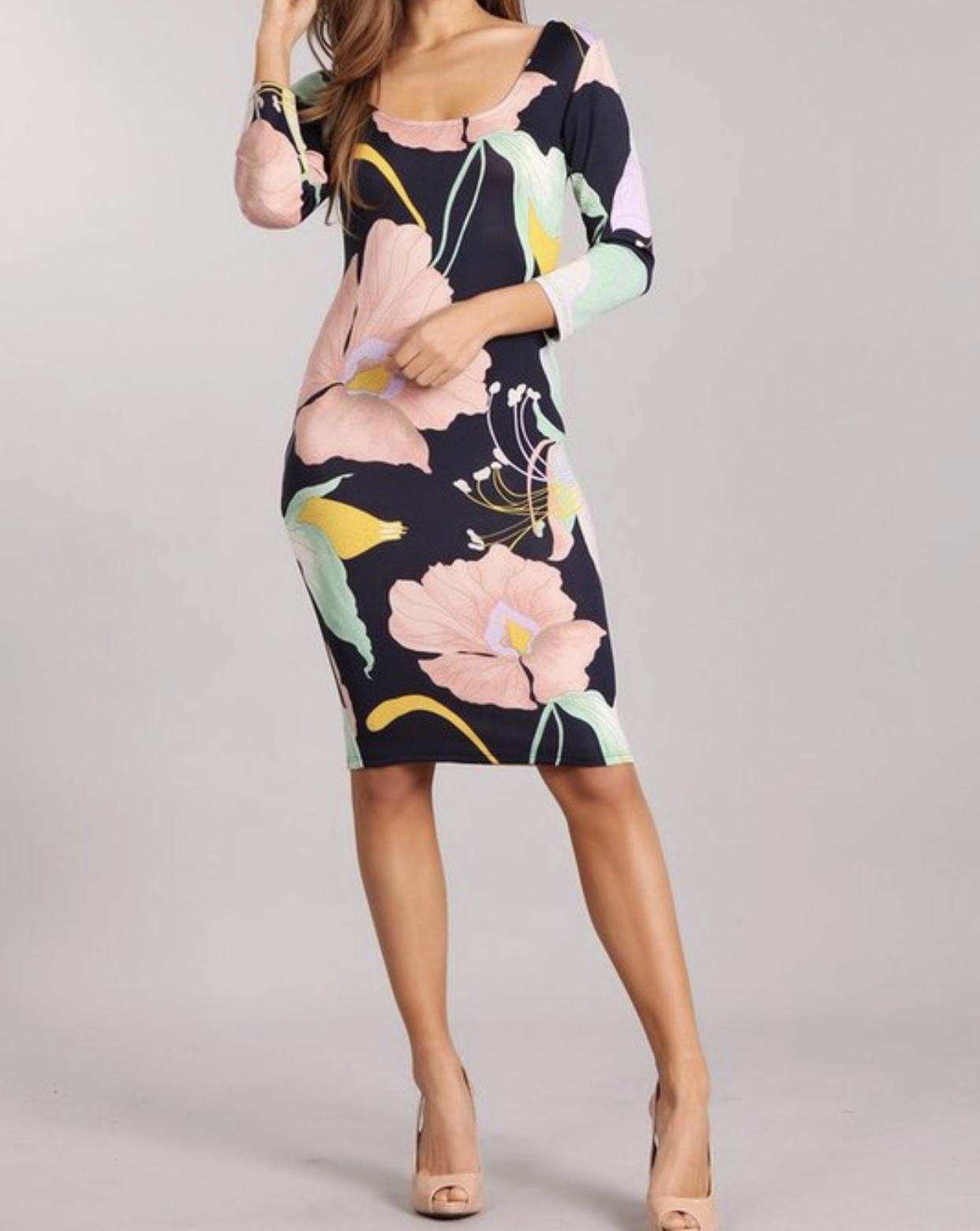 Blush & Blossom Dress UPDR708-BLUSHBLOSSOM