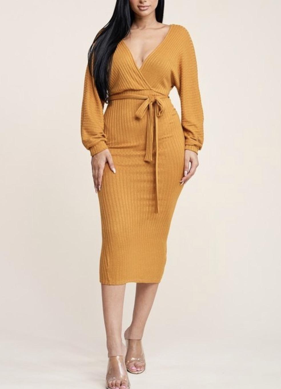 Lauren Ribbed Dress UPDR824-LAUREN