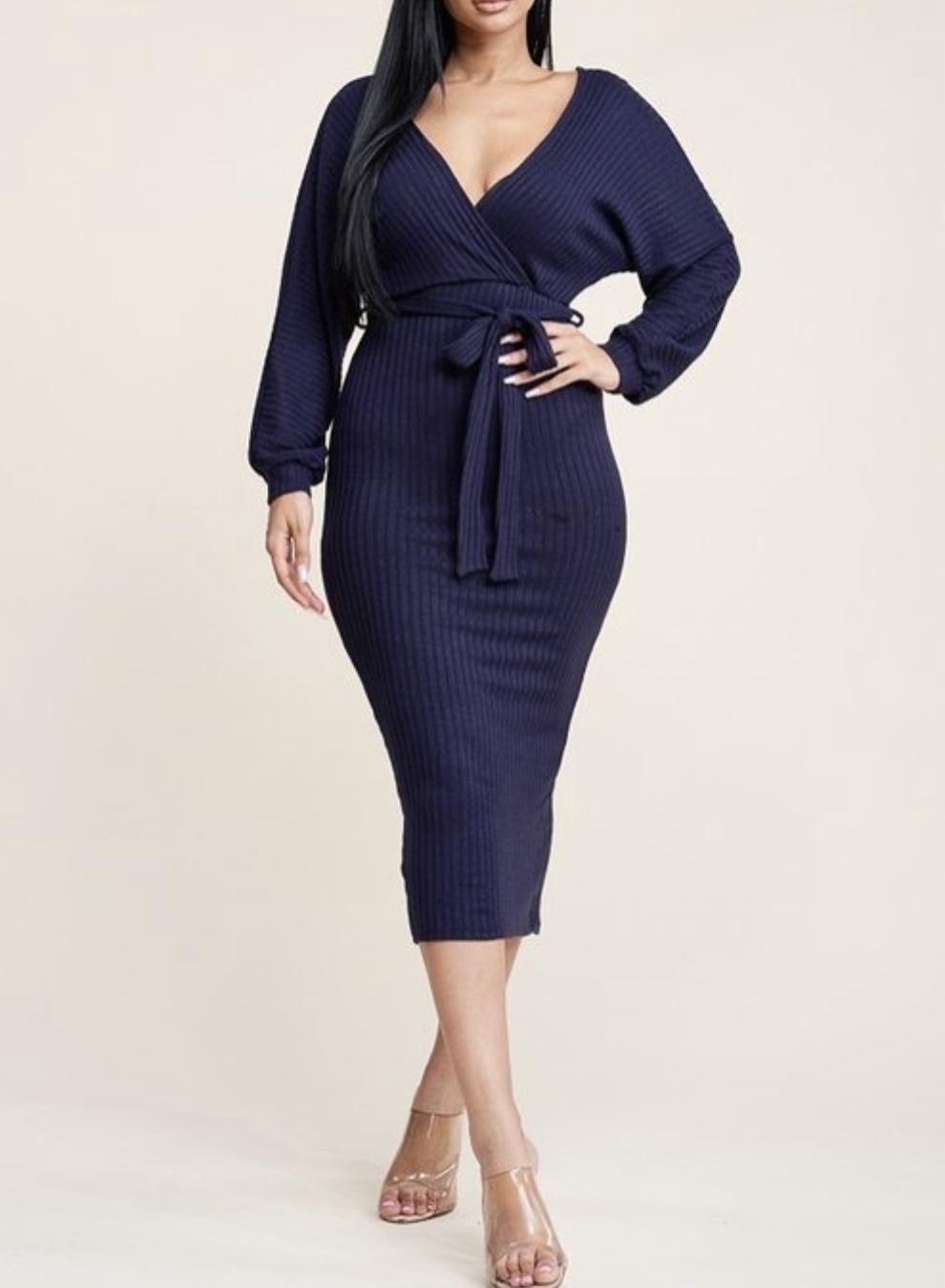 Lauren Ribbed Dress