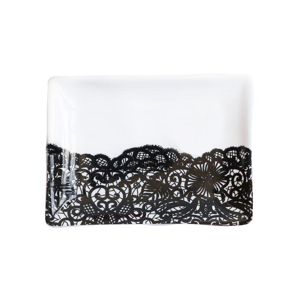 Black Lace Jewelry Dish UPHG001-SWDJD-BL
