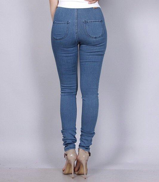 Ari High Waisted Skinny Jeans-Back