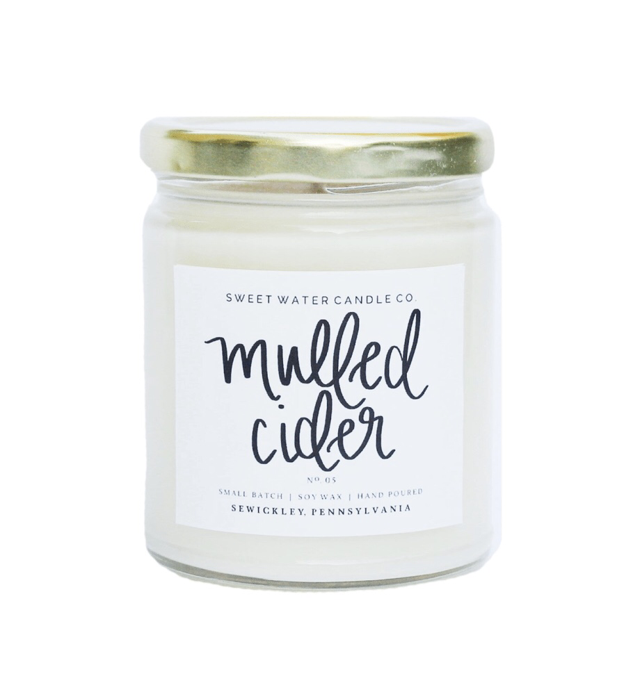 "Sweet Water Candle Co. ""Mulled Cider"" UPHG001-SWC-MC"