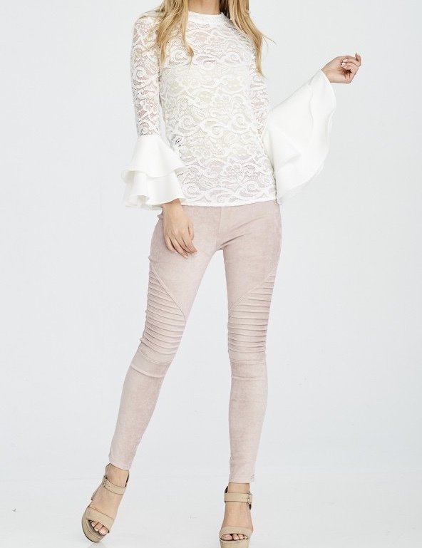 She's A Diva Lace Top-White-Full Body