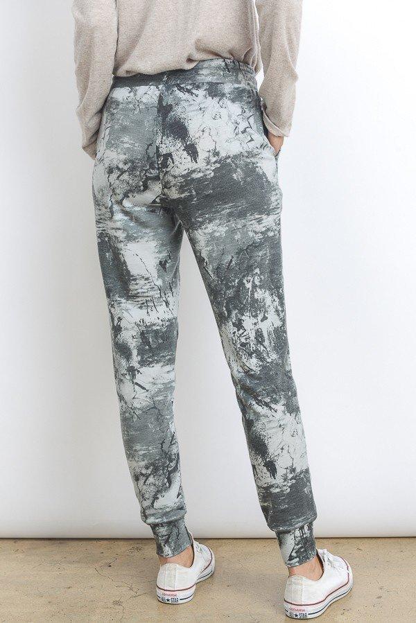 Paint & Splatter Jogger-Grey-Back
