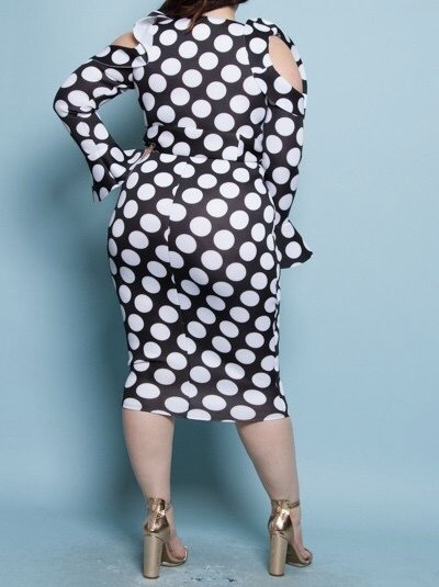 All The Dots Dress-Back