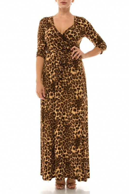 That's You Girl Maxi Dress - Leopard UPDR625-THATSYOUGIRL-LEOPARD