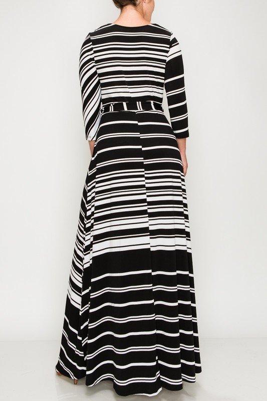 That's You Girl Maxi Dress - Black Striped