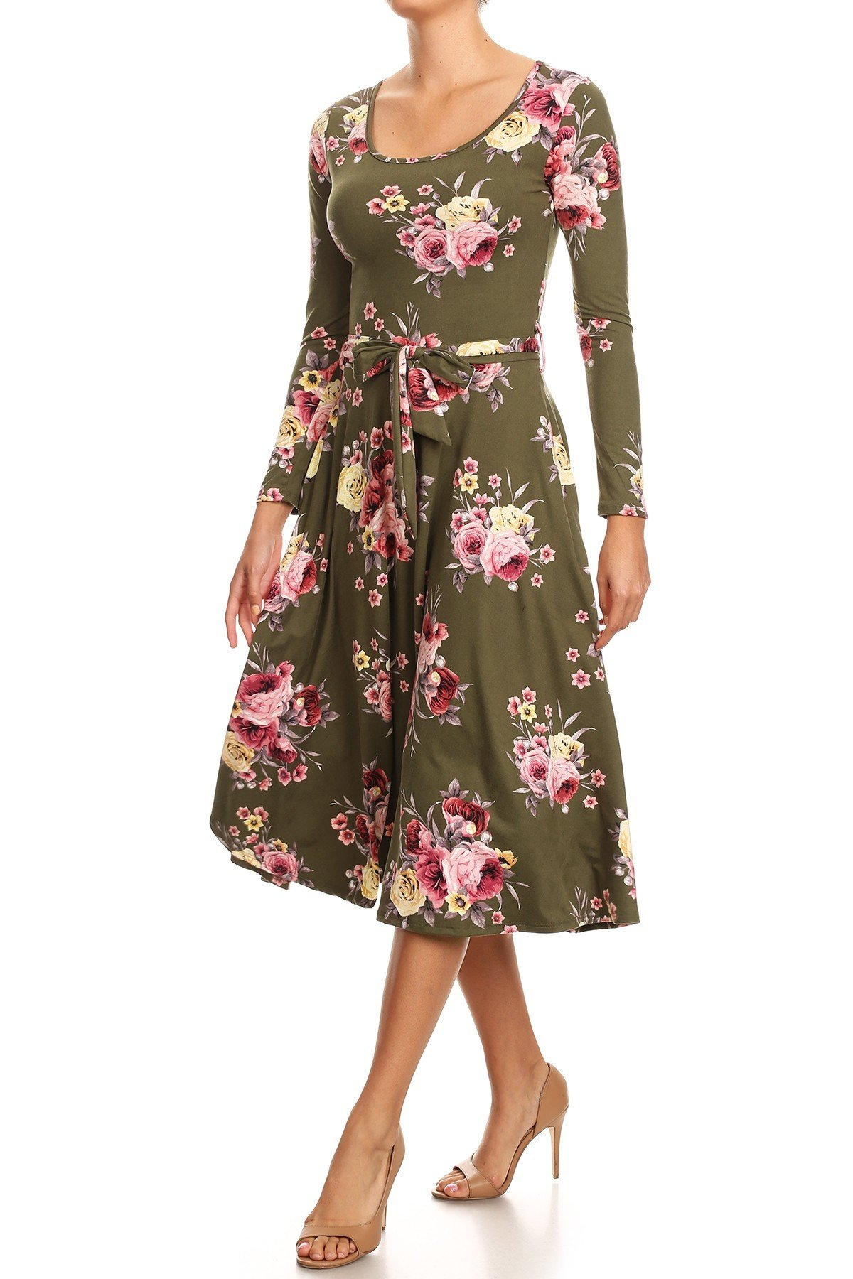 Floral Swing Dress Front View