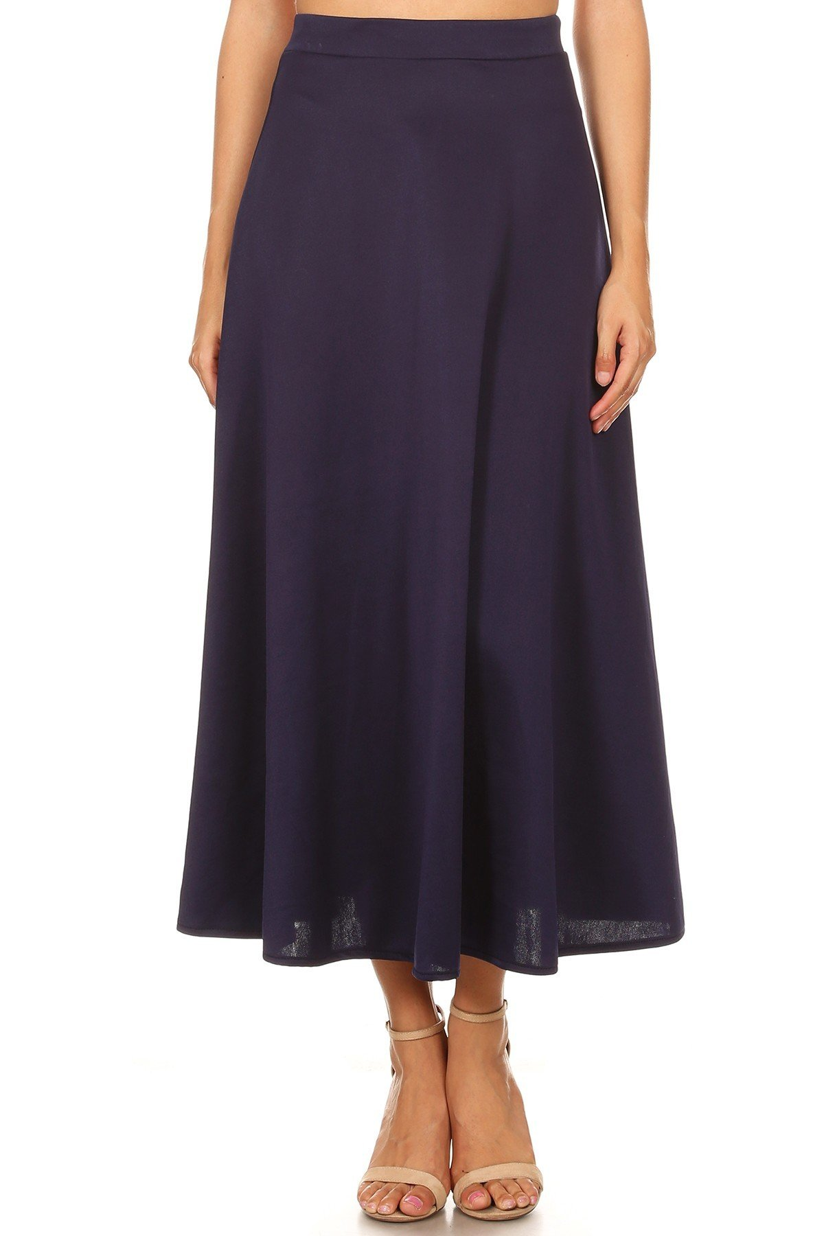Swing & Sway Skirt Navy Front View