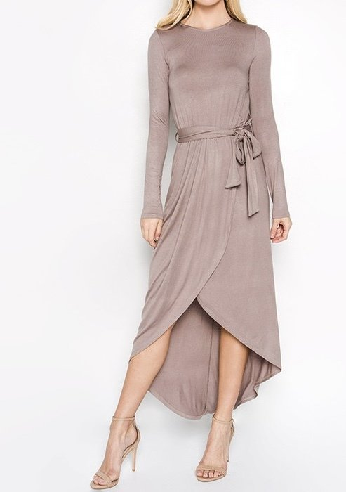 Malinda Dress Taupe