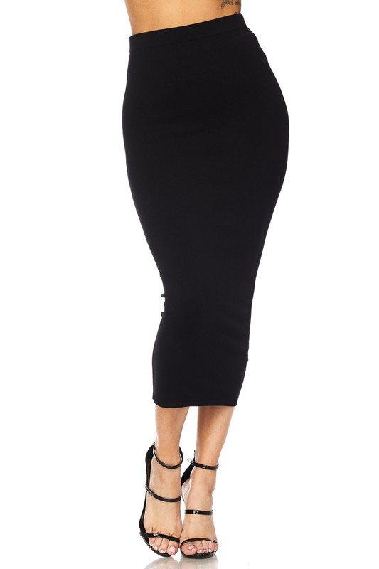 Pinpoint Pencil Skirt UPSK672-PINPOINT