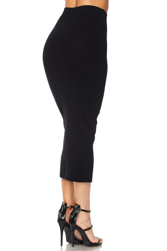 Pinpoint Pencil Skirt