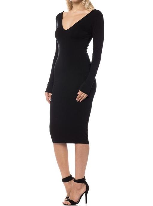LaDonna Midi Dress Black Side View