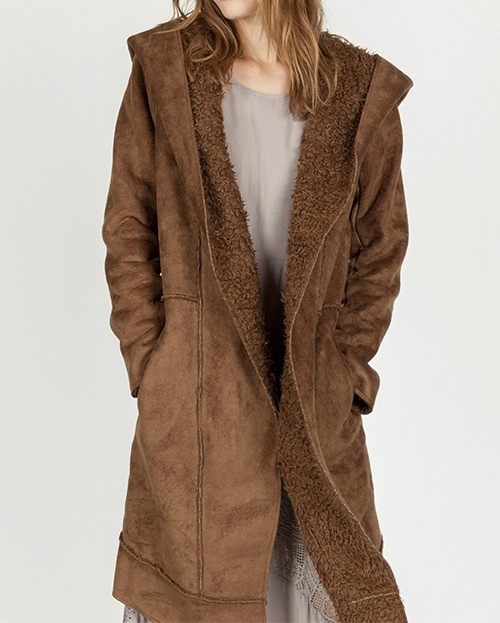 St. Cloud Faux Fur Lined Coat UPCT688-STCLOUD