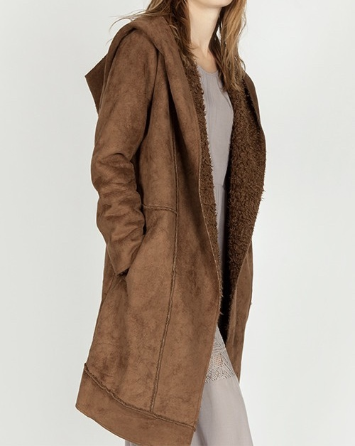 St. Cloud Coat Brown Side View