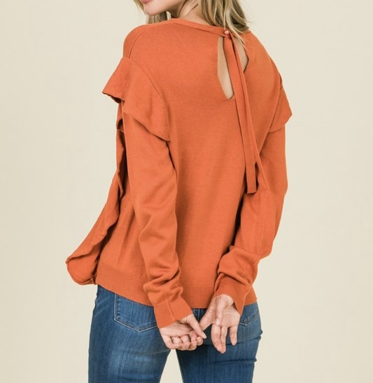 Sweet Pumpkin Sweater Back View