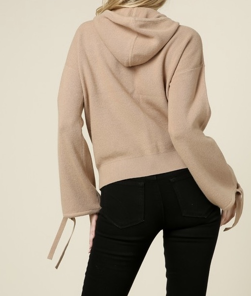Vanilla Latte Hooded Sweater Back View