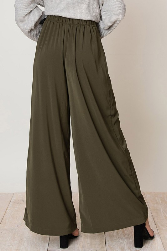 Pay Attention Wide Legged Pants Back View