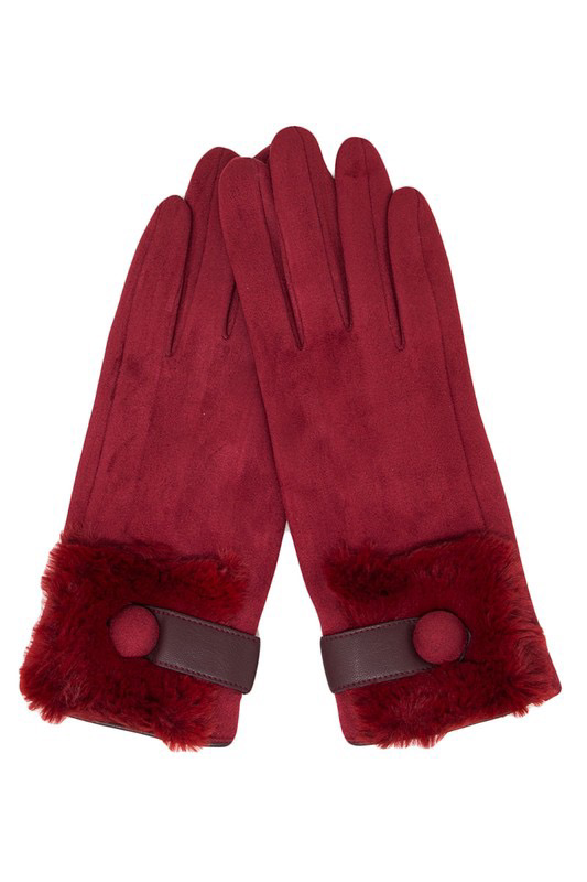 Faux Fur Trim Gloves UPAC0001-GLOVES