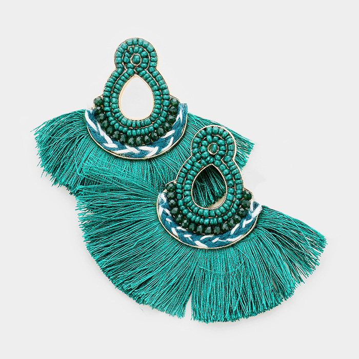 Mira Mira Tassel Earrings Teal