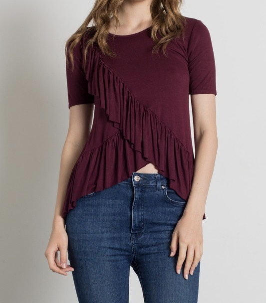 Ruffled Up Top UPSH698-RUFFLEDUP