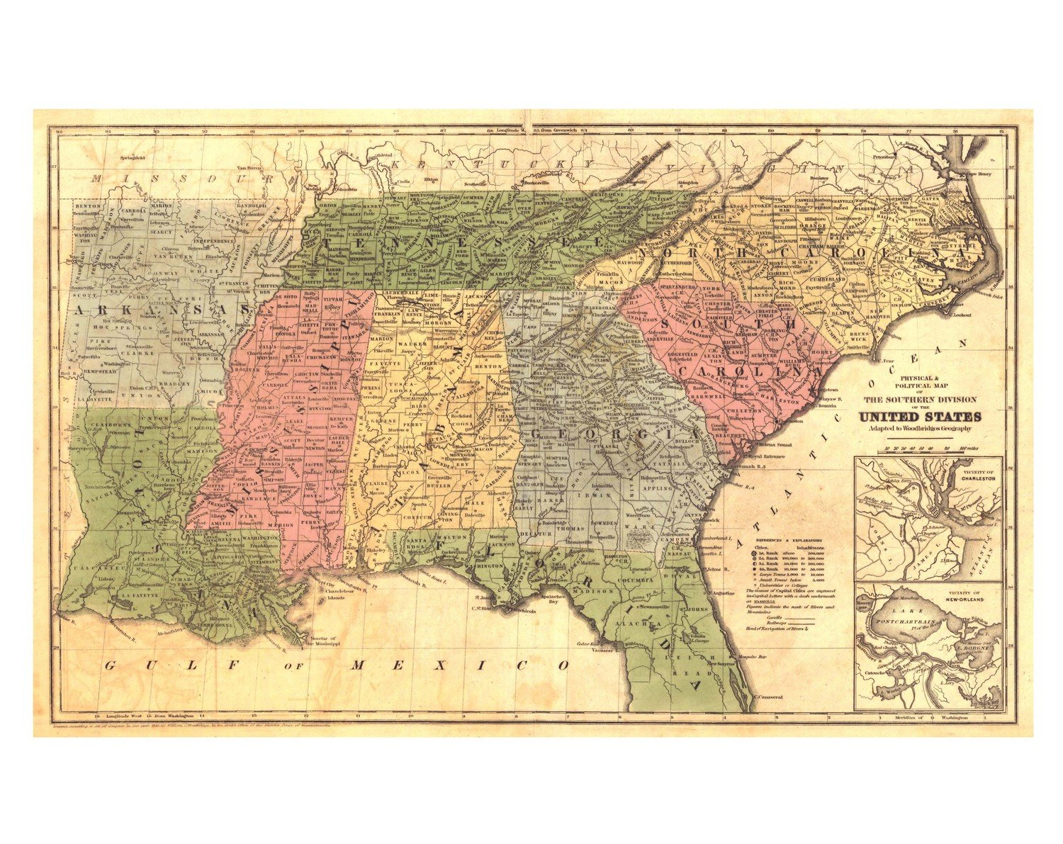 1845 Southern United States - Us-map-1845